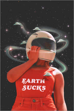 Premium poster  Earth sucks - Jonas Loose