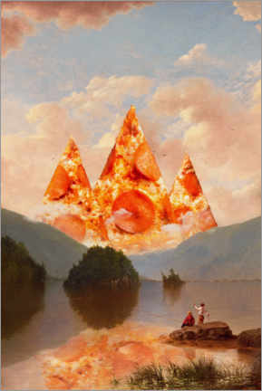 Premium poster  Pizza mountains - Jonas Loose