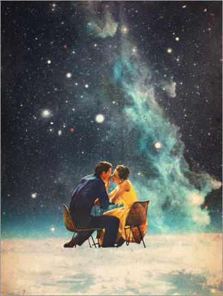 Aluminium print  I'll Take you to the Stars for a second Date - Frank Moth