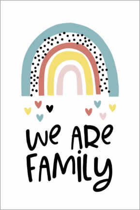 Canvas print  We are family - rainbow - Ohkimiko