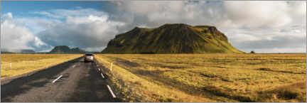 Wall sticker  Car driving on a road trip adventure in Iceland - Matthew Williams-Ellis