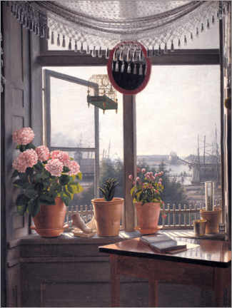 Canvas print  View from the artist's window - Martinus Rørbye