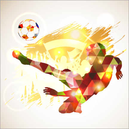 Canvas print  Soccer player victory blow - TAlex