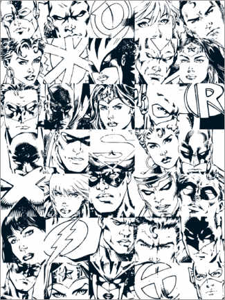 Colouring poster  DC Comic Heros