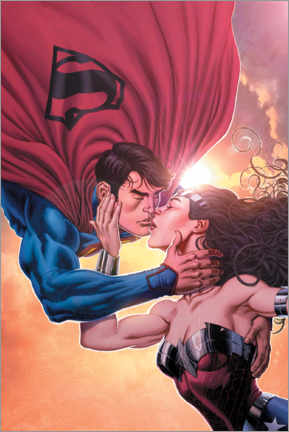 Acrylic print  Superman and Wonder Woman