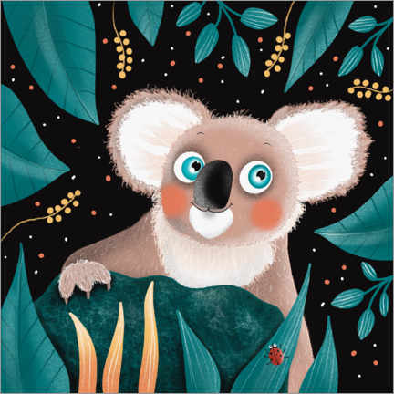 Premium poster  Smiling koala with blue eyes - WACHtraum