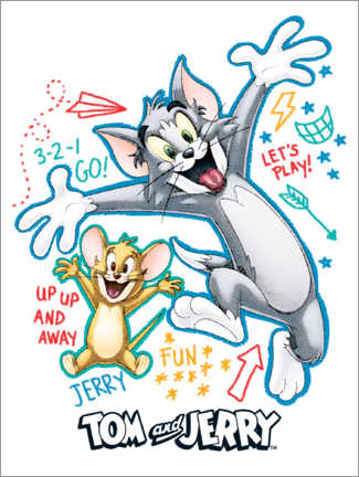 Aluminium print  Tom and Jerry Fun Time