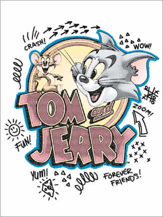 Aluminium print  Tom and Jerry Fun Art