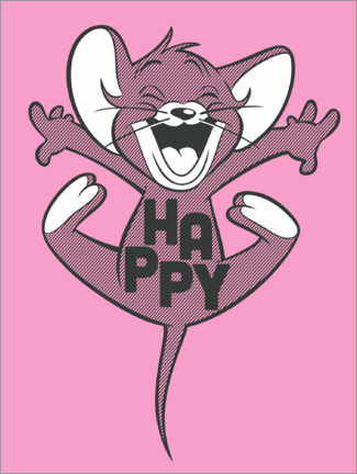 Premium poster  Happy Jerry Pink