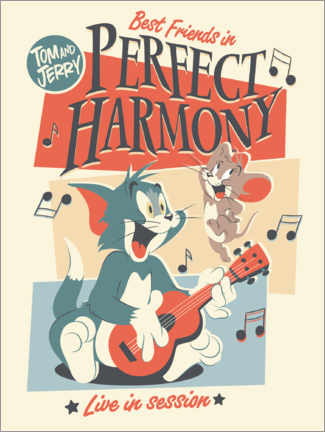 Aluminium print  Tom and Jerry - Perfect harmony