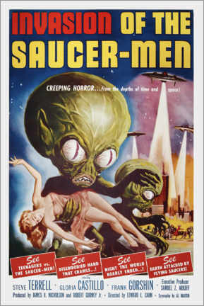 Premium poster  Invasion of the Saucer men - Entertainment Collection