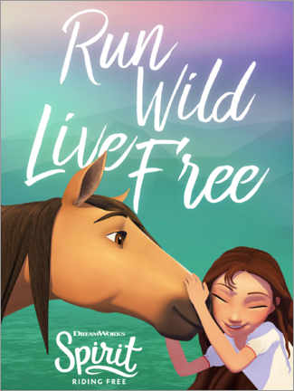 Canvas print  Run wild - live free