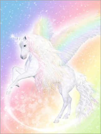 Canvas print  Unicorn Pegasus - Enchant your life - Dolphins DreamDesign