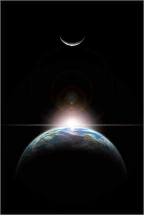 Premium poster  Sunrise in Space - Marc Ward