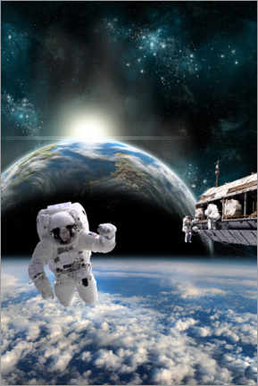 Premium poster  Astronauts on the space station - Marc Ward