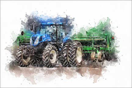 Canvas print  Tractor V - Peter Roder