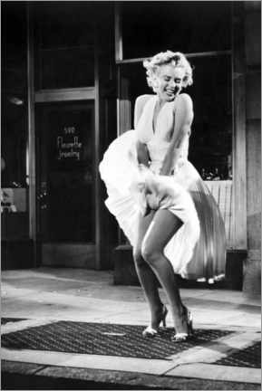 Canvas print  Marilyn - The Seven Year Itch iconic pose - Celebrity Collection