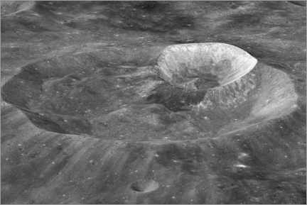 Canvas print  Joule-T and Wargo craters of the moon - NASA