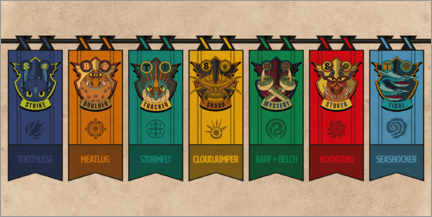 Premium poster  Dragon coat of arms
