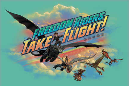 Foam board print  Freedom riders - take flight!