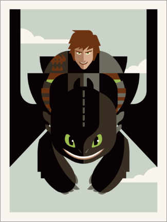 Gallery print  How to Train Your Dragon - Minimal Design