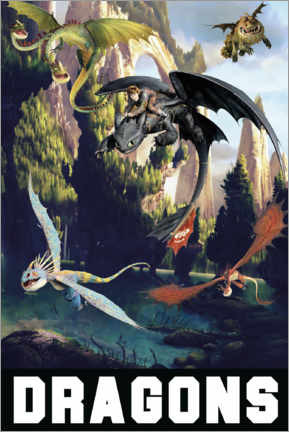Aluminium print  DreamWorks Dragons excursion