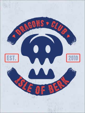 Premium poster  Dragons Club Berk