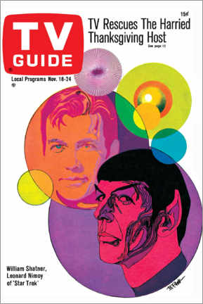 Canvas print  Star Trek - Retro Cover 1967 - TV Guide