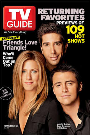 Foam board print  Friends Love Triangle - TV Guide
