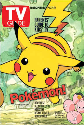 Canvas print  Pokémon - Pikachu - TV Guide