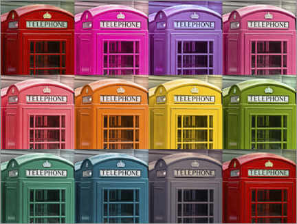 Canvas print  London telephone boxes - Assaf Frank