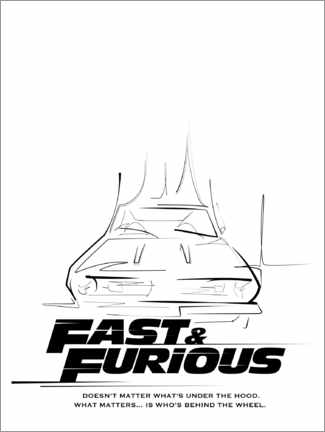 Aluminium print  Doesn't matter what's under the hood (Fast & Furious)