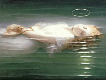 Foam board print  The Young Martyr - Hippolyte Delaroche