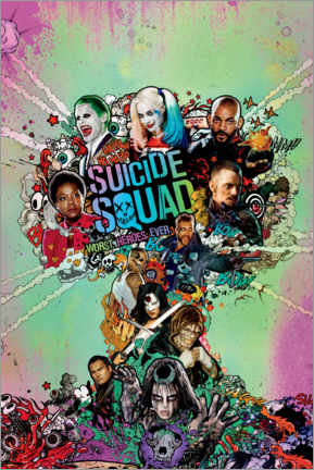 Acrylic print  Suicide Squad - Worst Heroes Ever