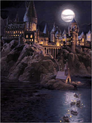 Premium poster  Harry Potter - Boats to Hogwarts