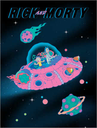 Canvas print  Rick and Morty - Space Ship