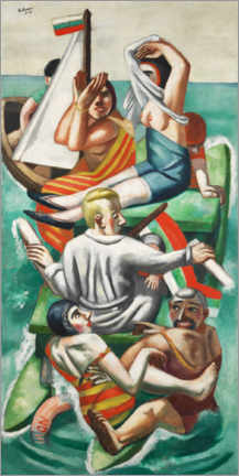 Premium poster  The boat - Max Beckmann