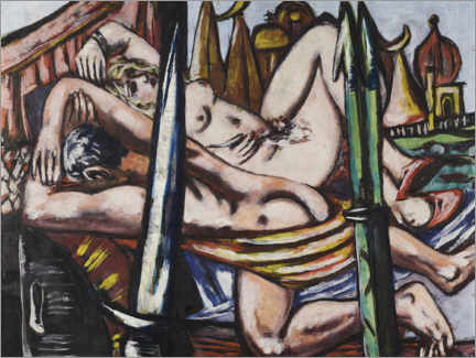 Wood print  Untitled - Max Beckmann