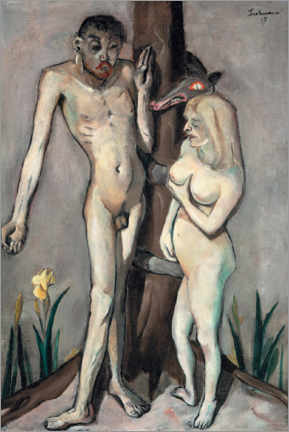 Wall sticker  Adam and Eve - Max Beckmann