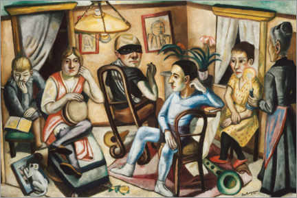 Aluminium print  Before the masquerade ball - Max Beckmann