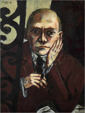 Wood print  Max Beckmann in the bar - Max Beckmann