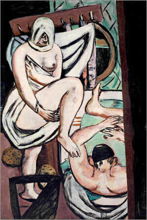 Acrylic print  The bathroom - Max Beckmann
