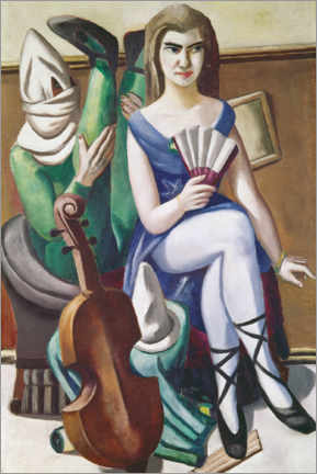 Acrylic print  Pierrette and Clown - Max Beckmann