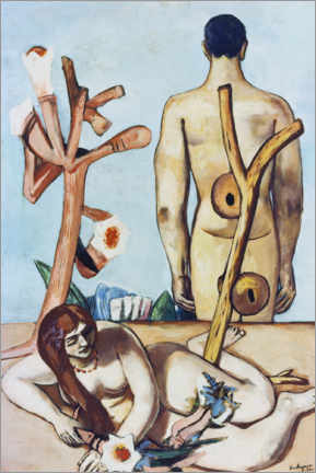 Foam board print  Man And Woman - Max Beckmann
