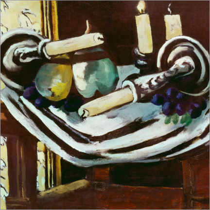 Gallery print  Still life with fallen candles - Max Beckmann