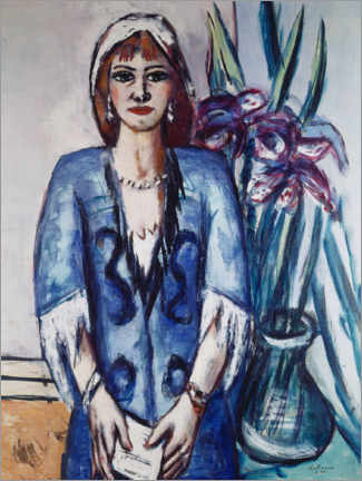 Wall sticker  Quappi in blue - Max Beckmann