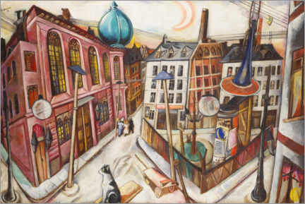 Gallery print  The synagogue in Frankfurt am Main - Max Beckmann