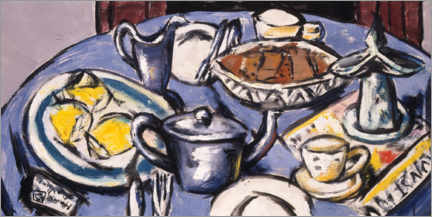 Premium poster  Breakfast table - Max Beckmann
