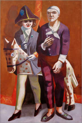 Gallery print  Carnival double portrait - Max Beckmann