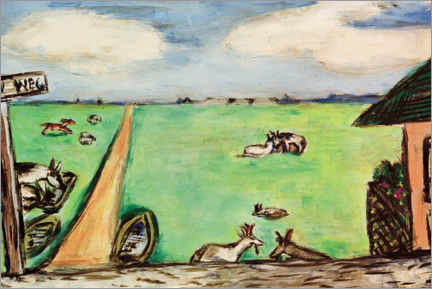 Wall sticker  Green meadow with cows - Max Beckmann